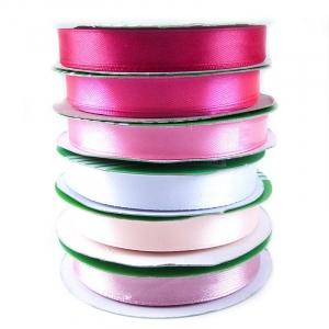 Набор атласных лент №5 розовый 12 мм уп 6*27,4 м