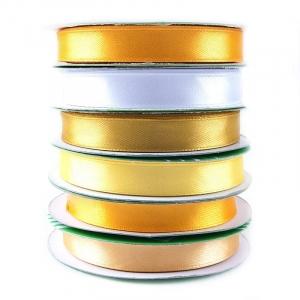 Набор атласных лент №10 желтый 12 мм уп 6*27,4 м