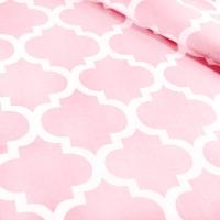 Ткань на отрез бязь плательная 150 см 1772/23 цвет розовый