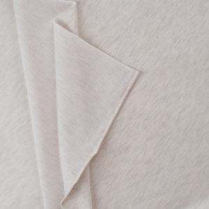 Ткань на отрез футер петля с лайкрой 09-12 цвет белый меланж