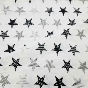 Ткань на отрез бязь плательная 150 см 8104/5 Звезды пэчворк цвет серый