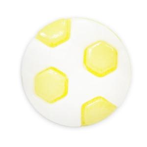 Пуговица детская сборная Мяч 13 мм цвет св-желтый упаковка 24 шт