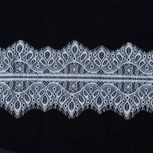 Кружево реснички 10см А066 белый упаковка 3 м