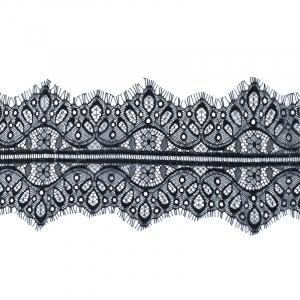 Кружево реснички 10см А066 черный упаковка 3 м