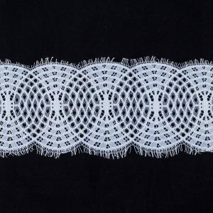 Кружево реснички 10см А924 белый упаковка 3 м