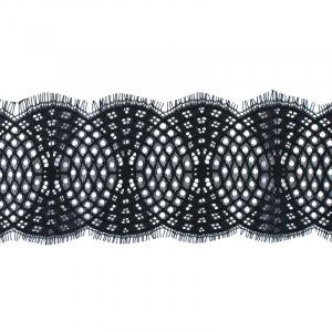 Кружево реснички 10см А924 черный упаковка 3 м