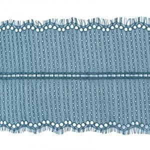 Кружево реснички 20см XJ026-1 изумруд упаковка 3м