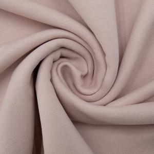 Ткань на отрез футер 3-х нитка диагональный цвет пудра