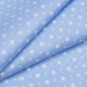 Маломеры бязь плательная 150 см 1897 горох цвет св-голубой 11 м