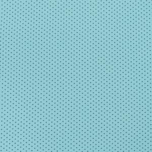 Ткань на отрез кулирка 1001-V31 Горох цвет мята
