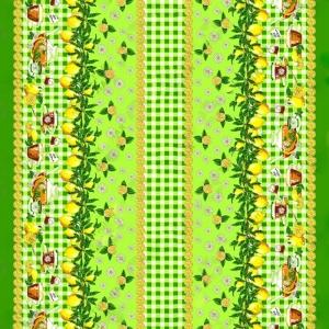 Рогожка 150 см 4549/2 Лимоны зелёный