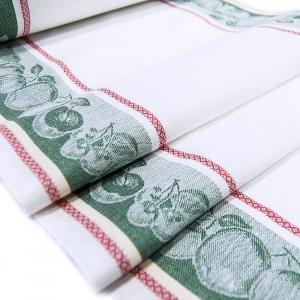 Полулен полотенечный 50 см Жаккард цвет зеленый
