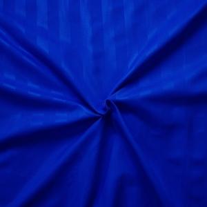 Страйп-полисатин гладкокрашеный 220 см цвет тёмно-синий