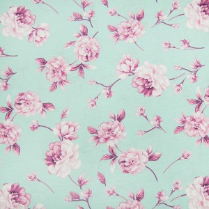 Ткань на отрез кулирка Цветы 6044-V4