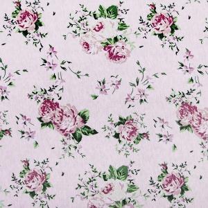 Ткань на отрез кулирка Цветы 9013-V1