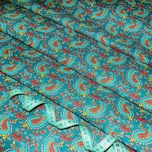 Бязь плательная 150 см 4914/4 цвет бирюзовый