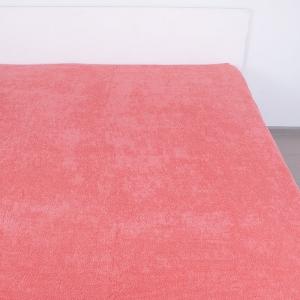 Простынь махровая цвет Коралл 155/200
