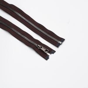 Молния металл №5СТ черный никель разьем 85см D570 коричневый