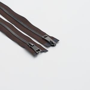 Молния металл №5СТ черный никель два замка 85см D570 коричневый