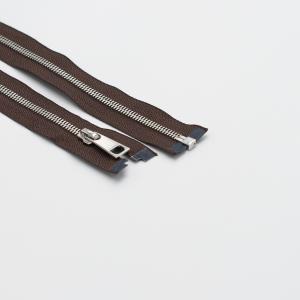 Молния металл №5СТ никель разьем 85см D570 коричневый