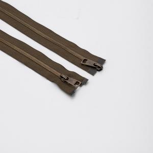 Молния металл №5СТ антик два замка 85см D565 хаки