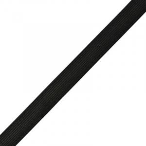 Резинка вязаная 15мм 25м черная