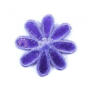 Аппликации термо С104-3 (3,9х3,8) цвет фиолетовый упаковка 5 шт