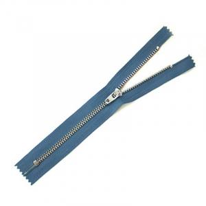Молния джинсовая №4 никель н/р 18см D839