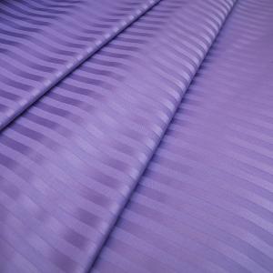 Ткань на отрез Страйп сатин полоса 1х1 см 220 см 135 гр/м2  цвет 618 сиреневый