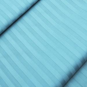 Ткань на отрез Страйп сатин полоса 1х1 см 220 см 135 гр/м2  цвет 436 бирюзовый