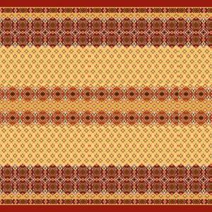 Вафельное полотно набивное 150 см 440/1 Народный цвет красный