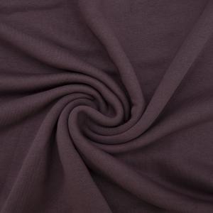 Ткань на отрез футер 3-х нитка диагональный цвет темно-лиловый