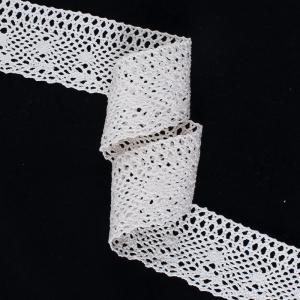 Кружево лен А25-К 6см кремовый 1метр