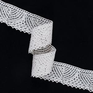Кружево лен А23-К 5,5 см кремовый 1метр