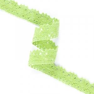 Кружево лен Z1046 Ярк зелень 1,7см 1метр