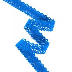 Кружево лен L130945 Синий 1,5 см 1метр