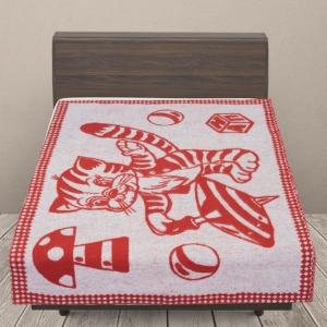 Одеяло п/ш жаккардовое детское 420 гр/м2 коты цвет оранжевый 100/140 см