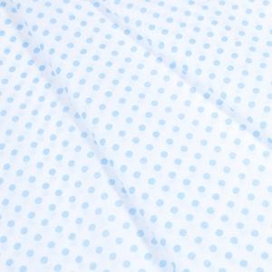 Ткань на отрез бязь плательная 150 см 1359/23А белый фон голубой горох