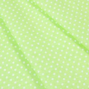 Ткань на отрез бязь плательная 150 см 1359/22 салатовый фон белый горох