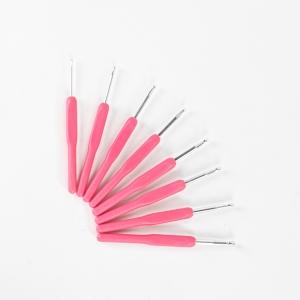 Набор крючков розовая ручка(8шт)
