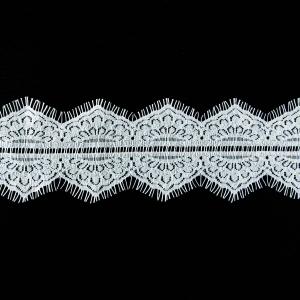 Кружево реснички 9см 08-31 белый ( упаковка 3м )