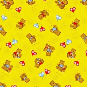 Ткань на отрез бязь ГОСТ детская 150 см 609/4 цвет жёлтый