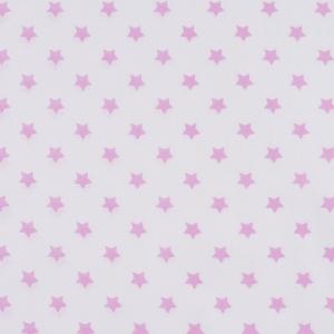 Ткань на отрез поплин 150 см 390А/2 Звездочки цвет розовый
