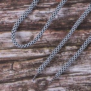 Шнурки круглые 120см черно-белые уп 2 шт