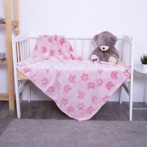 Покрывало велсофт стриженный Розовые кошки 100/150