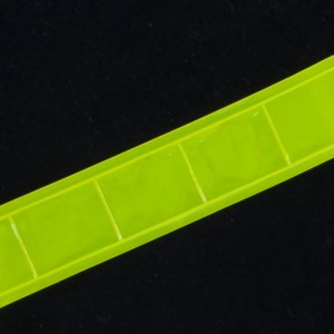 Тесьма светоотражающая 25мм желтая 1 м