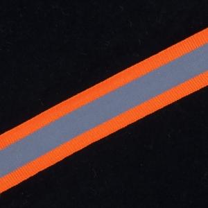 Тесьма со светоотражающей лентой 2см оранжевый 1 м