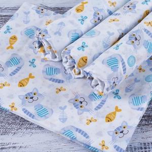 Набор детских пеленок ситец 4 шт 90/120 см 98051
