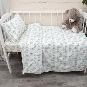 Постельное белье в детскую кроватку из поплина 1956/1