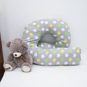 Наволочка поплин на подушку для беременных U-образная 1798/4 цвет серый